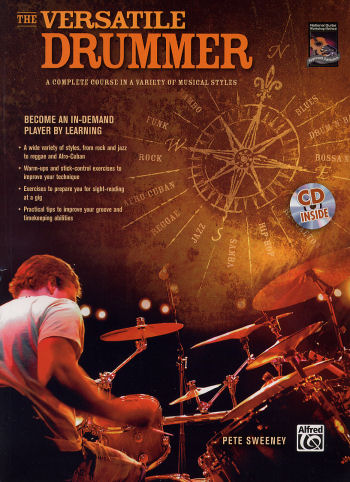 The Versatile Drummer book and CD by Pete Sweeney from Alfred Publishing