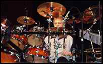 Billy Ashbaugh performs Saturday at the Modern Drummer Festival Weekend 2002.